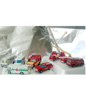 10 Antique Mini Car (Fire Truck + Ambulance)